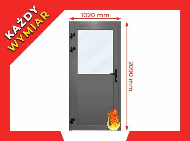 Drzwi PPOŻ Przeciwpożarowe EI30 EI60 Aluminiowe p-poż