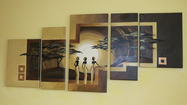 Obraz malowany na płótnie 130x60