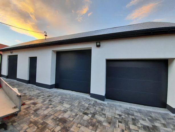 Brama garażowa segmentowa ocieplana 3000x3000 antracyt z GWARANCJĄ