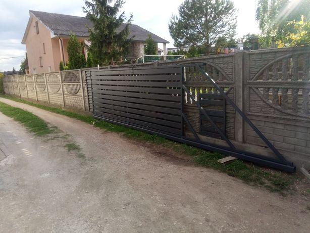 Brama przesuwna 4 m x 1.5  ocynk ogniowy malowana proszkowo 7016