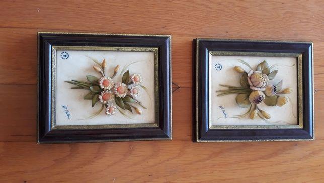 Quadros ceramica flores de autor