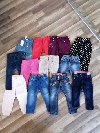 Spodnie dziewczęce roz 92