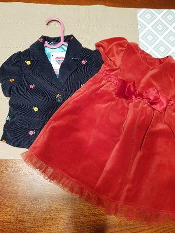 elegancka sukienka i żakiet dla małej modnisi, gap
