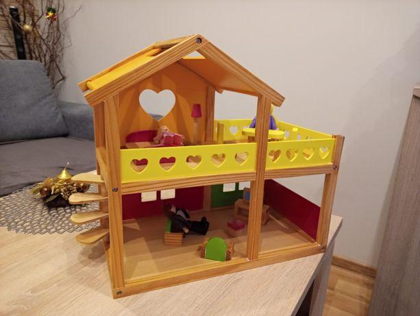 Domek drewniany + akcesoria
