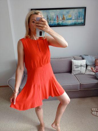 Pomarańczowa sukienka Mango r.L