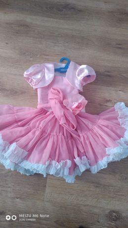 Платье с пышной юбкой и балерошкой