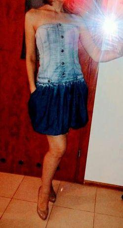 Jeans sukienka dżinsowa XS S M