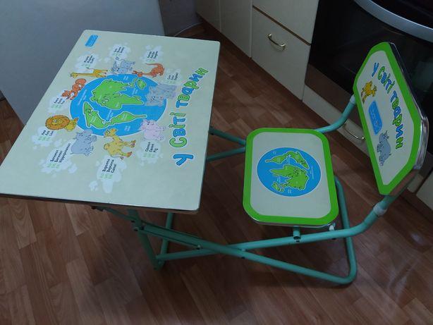 Парта Bambi на 6 - 7 - 8 лет, легко складывается, столик и стульчик