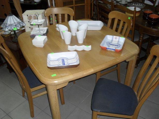 Stół dębowy + 4 krzesła