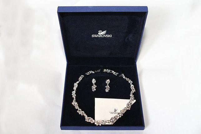 Naszyjnik + kolczyki Swarovski kolia biżuteria
