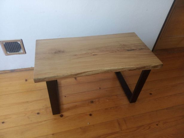 Stolik kawowy ława salonowa loft industrial drewno dąb meble na zamowi