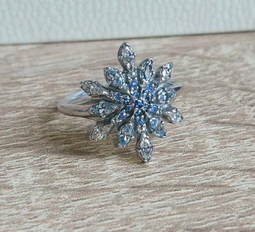 Nowy oryginalny pierścionek Pandora roz 48 srebro cyrkonie