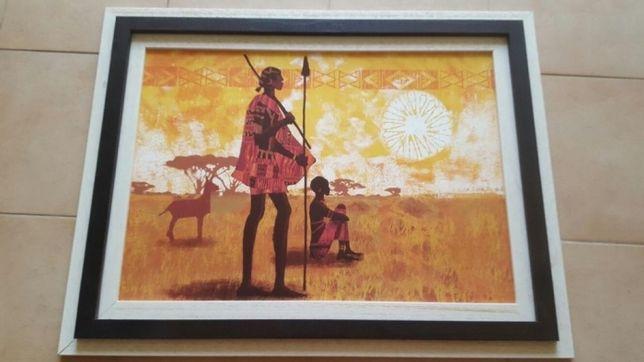 Quadro - Caçada Africana