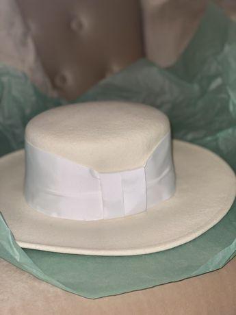Шляпа канотье шерсть