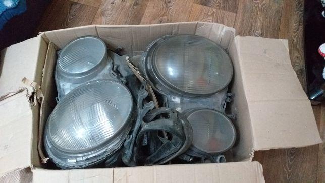 Комплектующие к фарам w210.Корпус,проводка фар,лампы линзы, отражатели