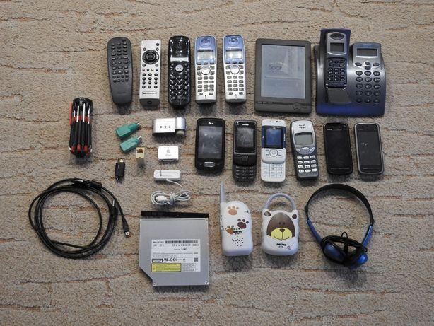 Nokia, Ipod, LG, telefony, piloty .. Zestaw elektroniki