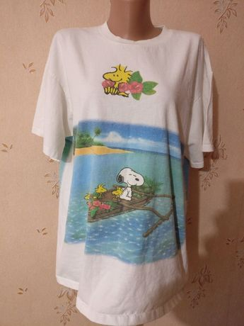 Vintage Peanuts Snoopy T Shirt Футболка снупи