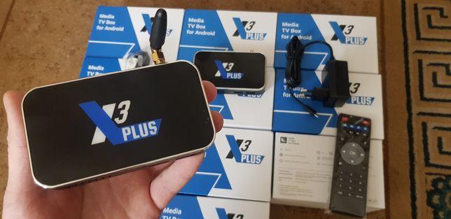 ⫸SmartTV X3 plus 4gb/64гб СмартТВ Приставка x2 Box android cube pro 32