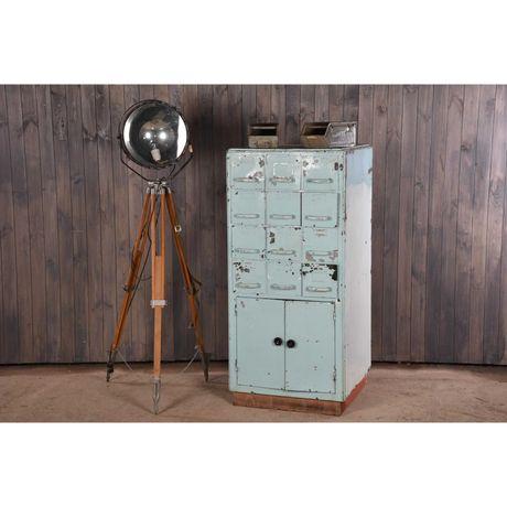 Металлический шкаф в стиле loft, ретро шкаф, картотека