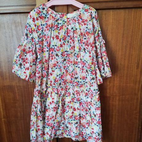 Vestido Zara flores 7A