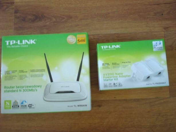 Zestaw transmiter sieciowy TP-LINK TL-PA4010PKIT + ruter TL-WR841N