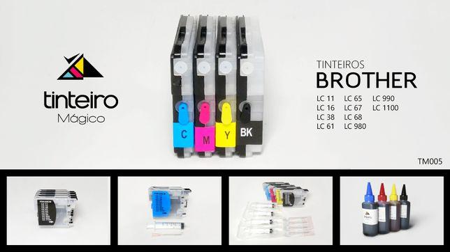Kit Tinteiros Recarregaveis BROTHER (TM005)