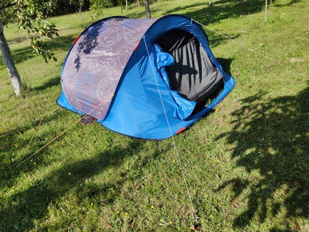 Namiot Quechua 2 second 3-osobowy z materacem Intex plus Gratis