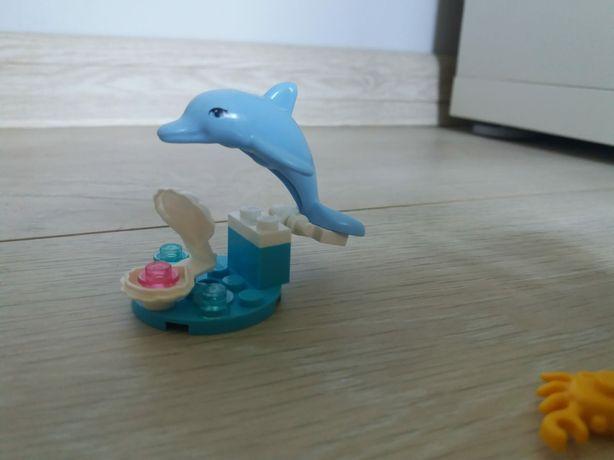 LEGO friends, wyspa krabów, delfin, palma, krab, muszelka saszetka