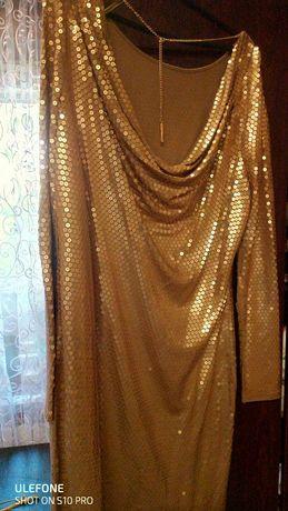 Продам платье золотое с паетками Michael Kors