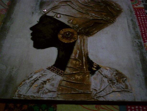 vendo tela muito bonita de uma senhora africana