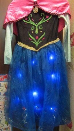 Платье принцессы Анны со светом и звуком 9-10 лет Frozen Фрозен Дисней