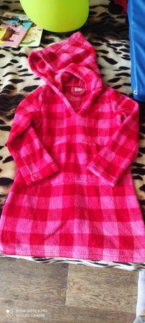 Флисовый халат для девочки