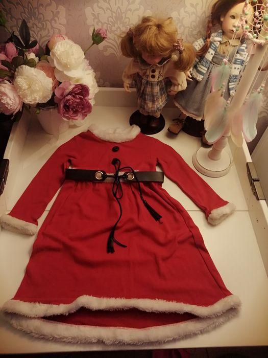 Sukienka i pelerynka dla mikołajki Wrzawy - image 1