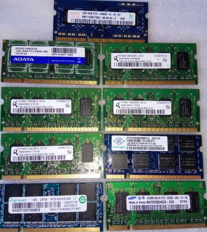 Memória 1GB DDR2 DDR3 PC2 PC3