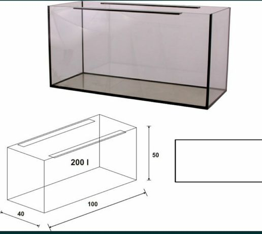3x akwarium 100x50x50