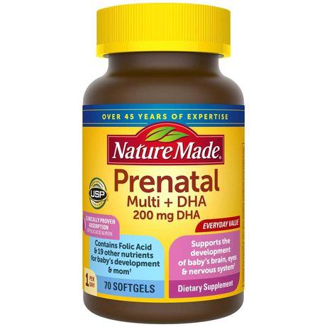 Вітаміни для вагітних Prenatal Multi+DHA 70 шт