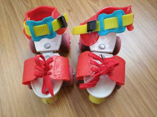 Роликовые коньки раздвижные 4-колесные Profi Roller