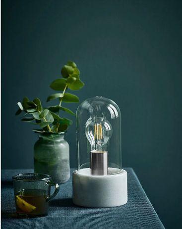 lampa stołowa marmur szkło HIT