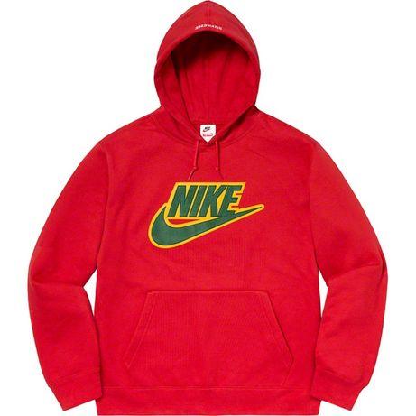 Supreme/Nike Leather Appliqué Hooded Sweatshirt
