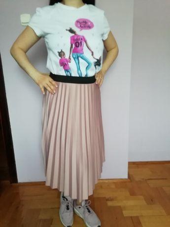 spódnica plisowana szara lub różowa