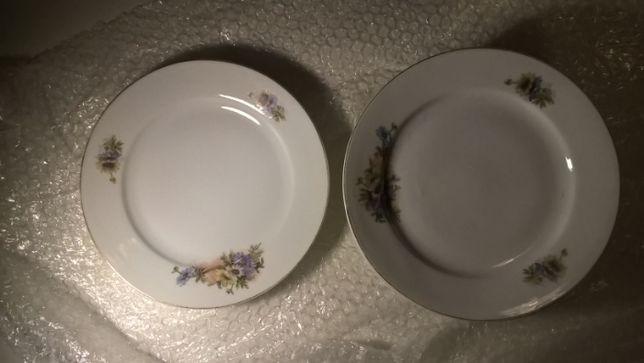 Cinco pratos VISTA ALEGRE (1891/1921) - punção Cegonha)