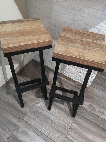 """Krzesło barowe HOKER """"Z"""" industrialny LOFT"""