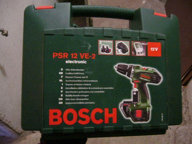 Wiertarko-wkrętarkę firmy Bosch model PSR 12VE-2 .