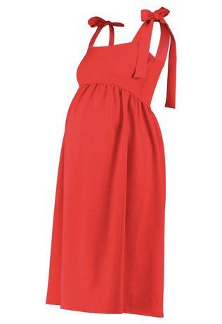 Czerwona sukienka ciążowa L maternity zalando