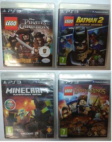 jogos PS3 minecraft e outros