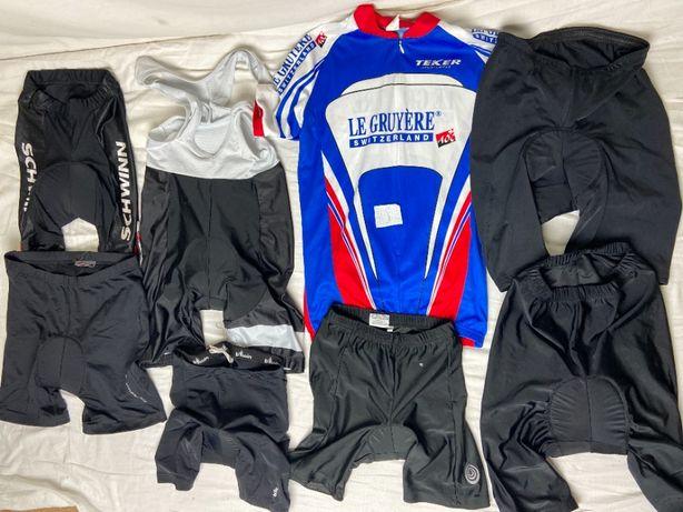 велошорты ( штаны , шорты , шорты с подтяжками , футболки)