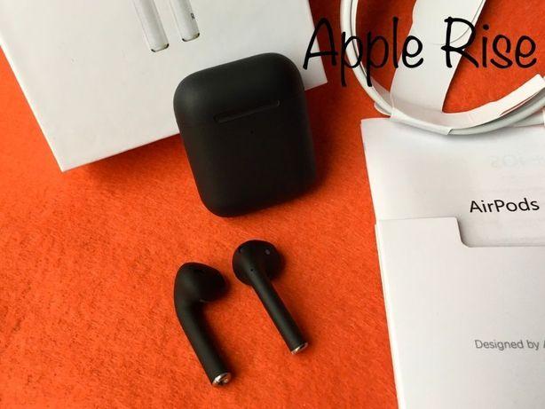 НОВЫЕ Наушники беспроводные Apple Airpods 2 Черные Black Айфон Андроид