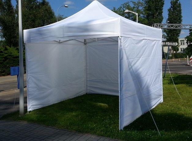 Раздвижной шатёр-гармошка 3х3м белого и жёлтого цвета, шатёр палатка.
