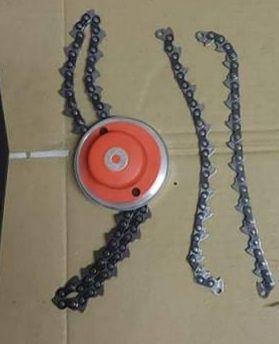Cabeça de roçadora de correntes 12€tambem temos correntes cada par 5€