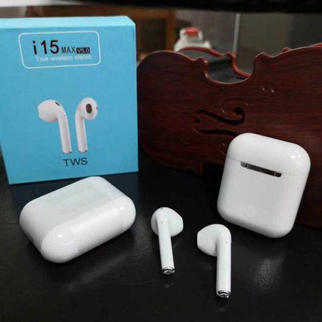 Airpods i15Max!Беспроводные Bluetooth наушники.5ч на Макс громк.1350р
